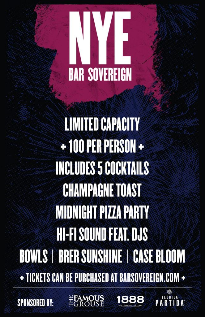 NYE at Bar Sovereign